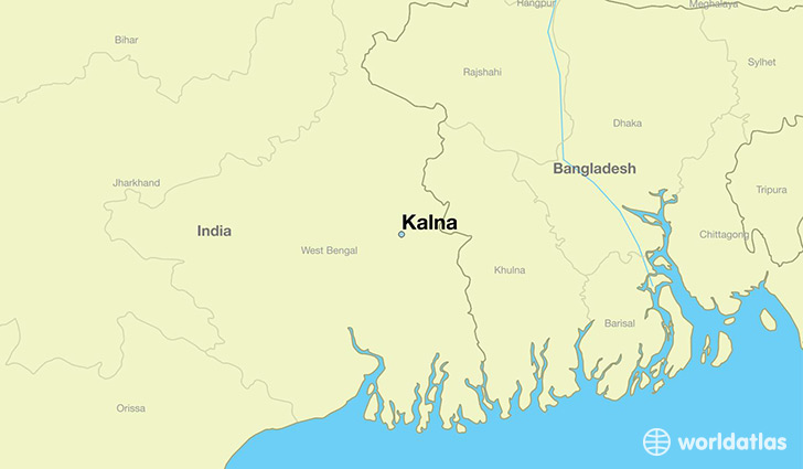map showing the location of Kalna