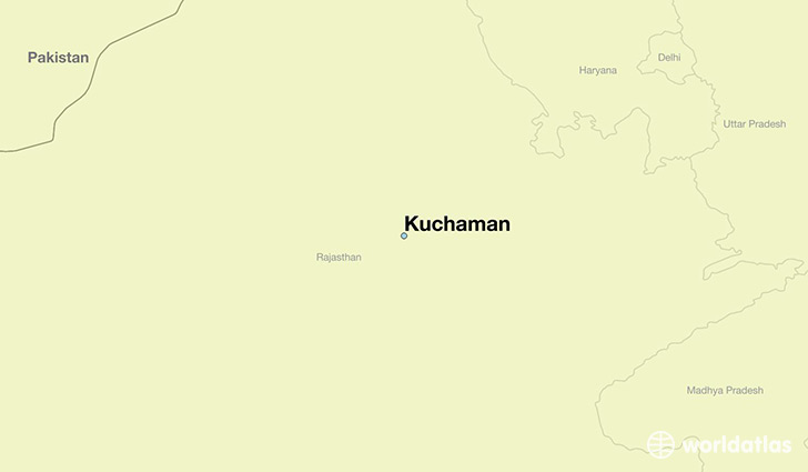 map showing the location of Kuchaman