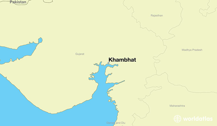 map showing the location of Khambhat