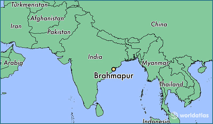 map showing the location of Brahmapur
