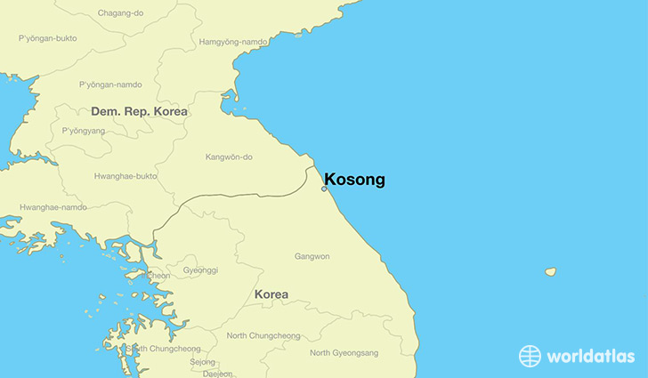 map showing the location of Kosong