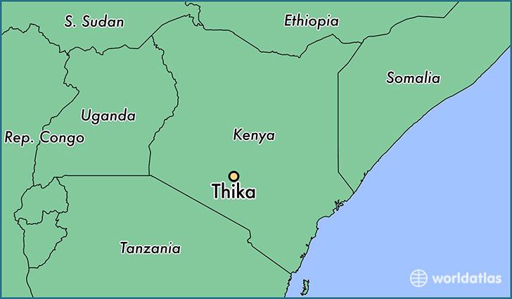 Where Is Thika  Kenya     Thika  Nairobi Area Map
