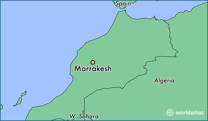 map showing the location of Marrakesh