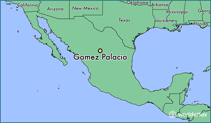 map showing the location of Gomez Palacio