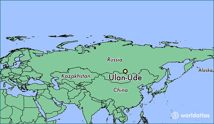 map showing the location of Ulan-Ude