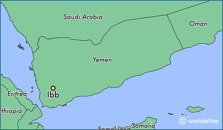 map showing the location of Ibb