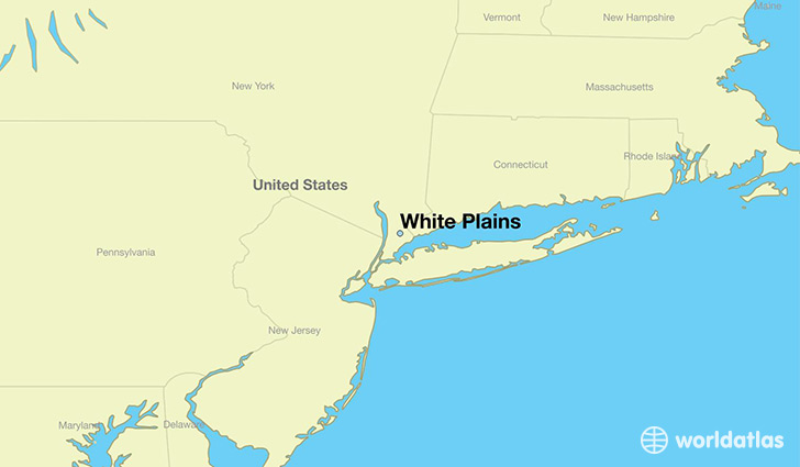 map showing the location of White Plains