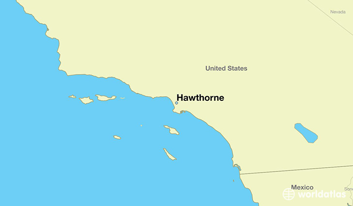 map showing the location of Hawthorne