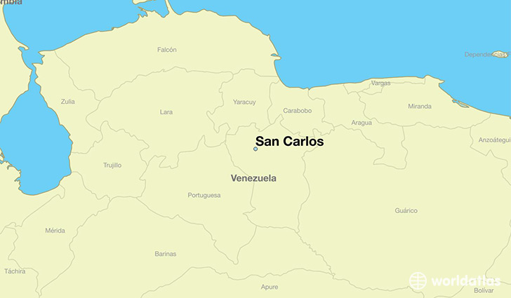 map showing the location of San Carlos