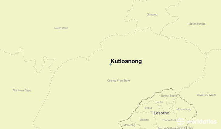 map showing the location of Kutloanong