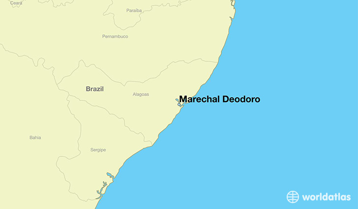 map showing the location of Marechal Deodoro