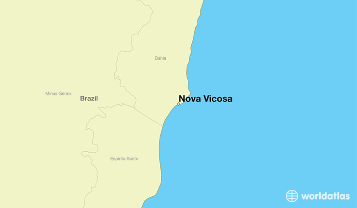 map showing the location of Nova Vicosa