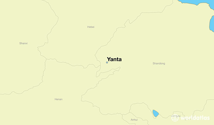 map showing the location of Yanta