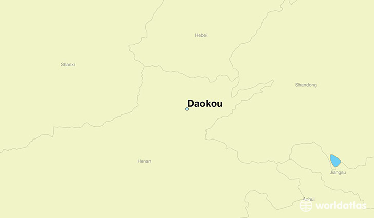 map showing the location of Daokou