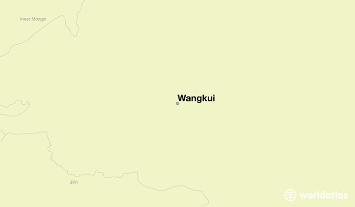 map showing the location of Wangkui