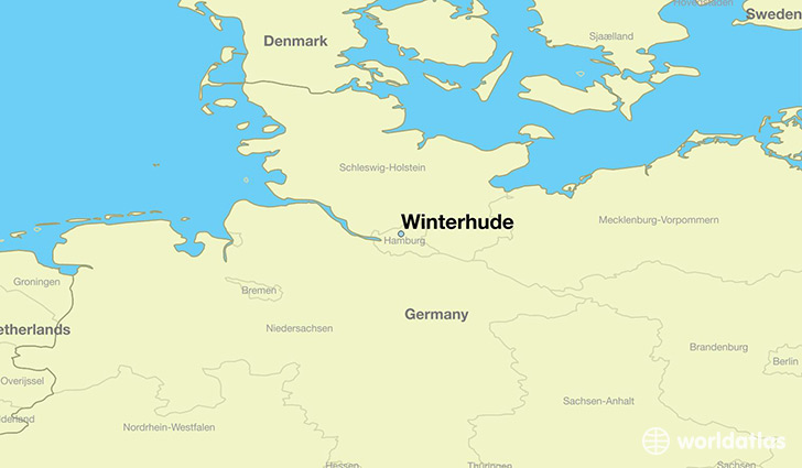 map showing the location of Winterhude