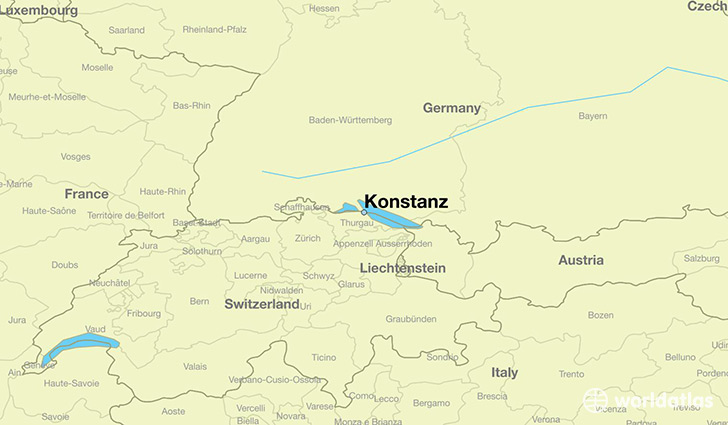 map showing the location of Konstanz