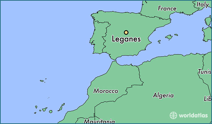 map showing the location of Leganes