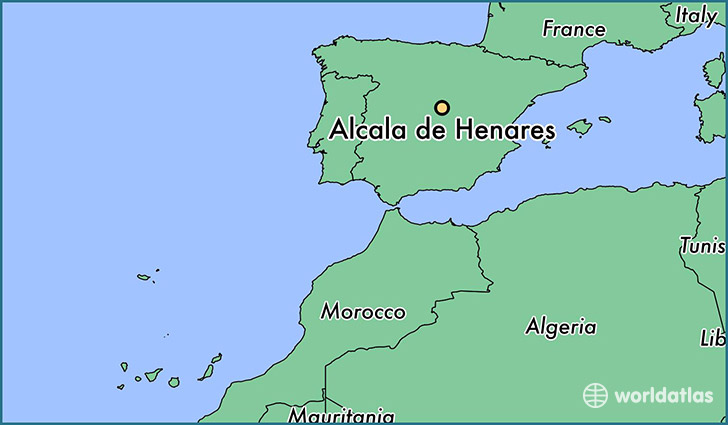 map showing the location of Alcala de Henares