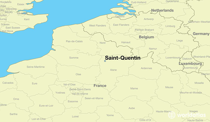 Map Of Saint Quentin France.Where Is Saint Quentin France Saint Quentin Picardy Map