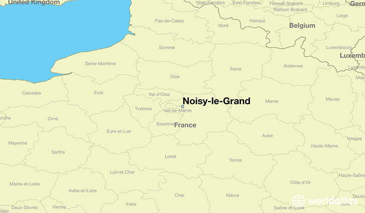 map showing the location of Noisy-le-Grand
