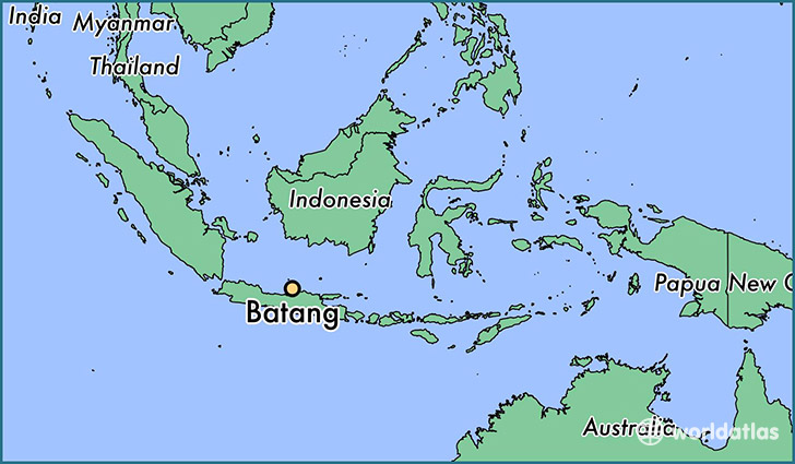 map showing the location of Batang