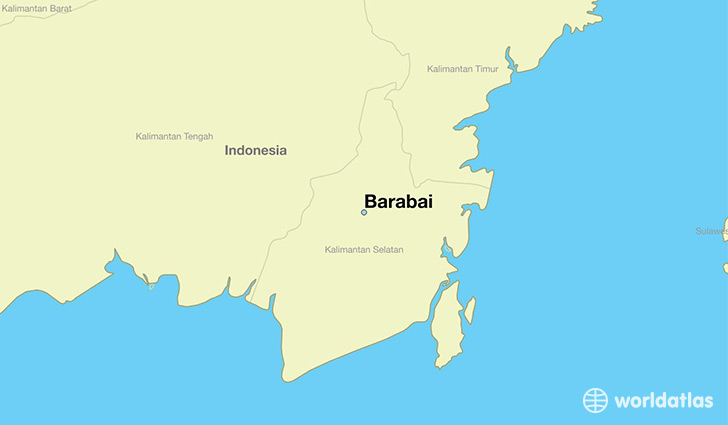 map showing the location of Barabai