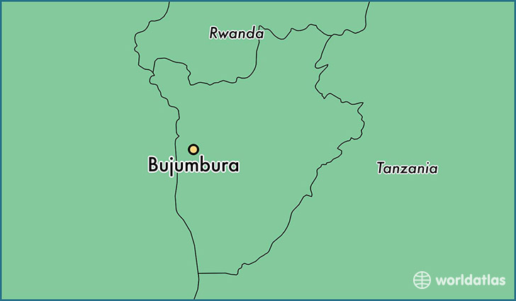 map showing the location of Bujumbura