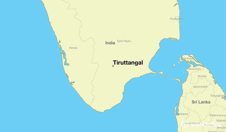 map showing the location of Tiruttangal