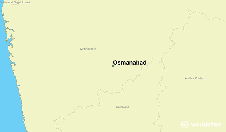 map showing the location of Osmanabad