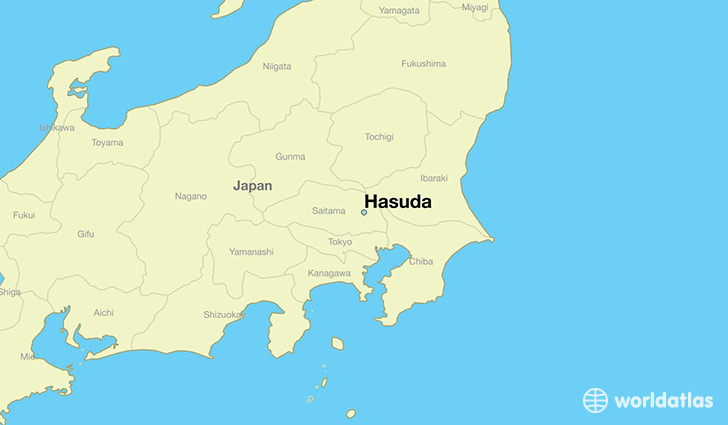 map showing the location of Hasuda