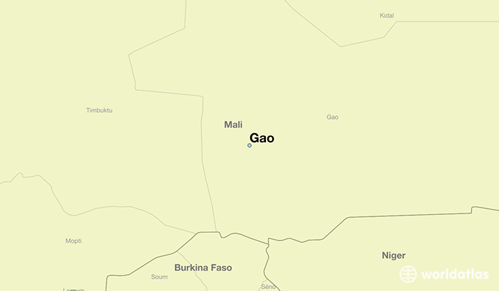 map showing the location of Gao