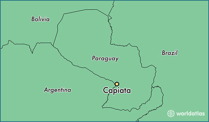 map showing the location of Capiata