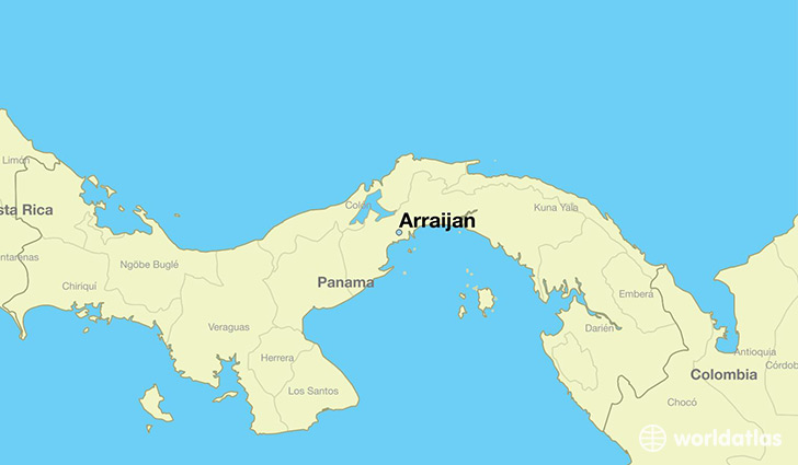 Where Is Arraijan Panama Arraijan Panama Map WorldAtlascom - World map panama