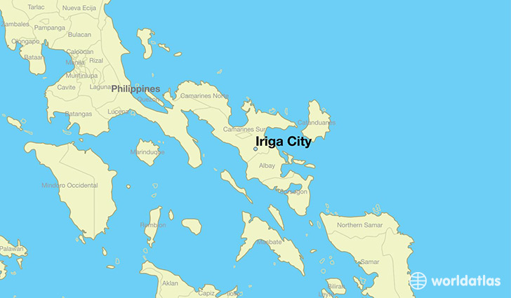 map showing the location of Iriga City