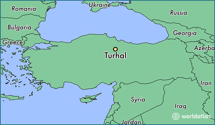 map showing the location of Turhal