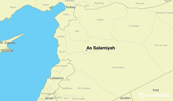 Where is As Salamiyah, Syria? / As Salamiyah, Hama Map - WorldAtlas.com