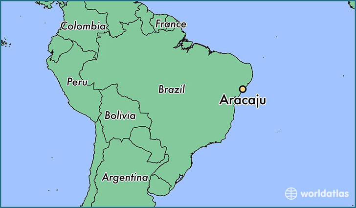 map showing the location of Aracaju