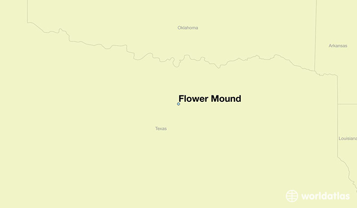 map showing the location of Flower Mound