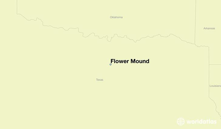 Where is flower mound tx flower mound texas map worldatlas map showing the location of flower mound mightylinksfo