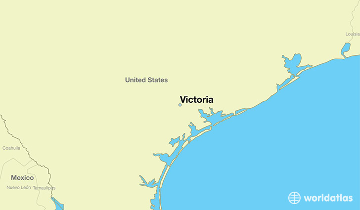 Map Of Texas Victoria.Where Is Victoria Tx Victoria Texas Map Worldatlas Com