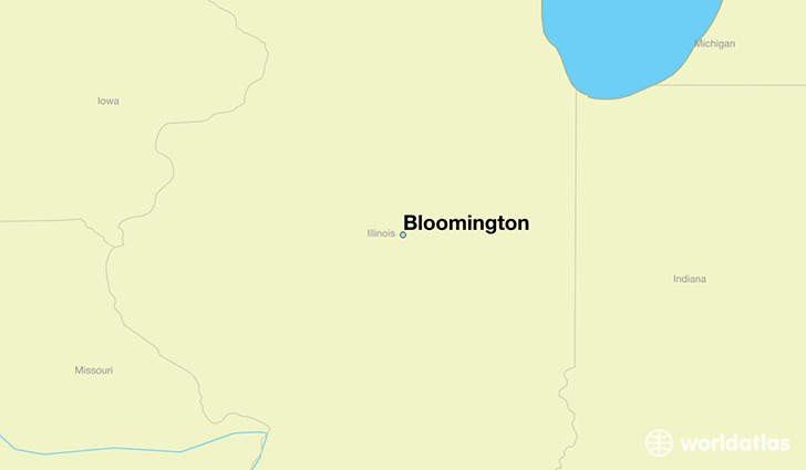 map showing the location of Bloomington