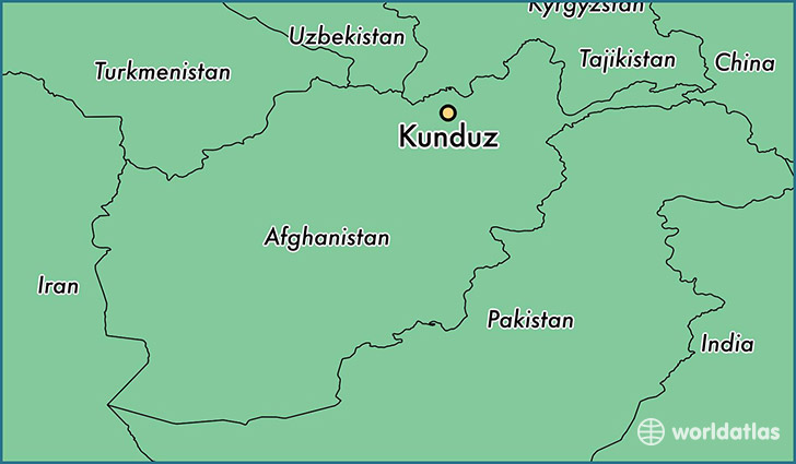 map showing the location of Kunduz