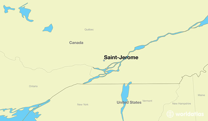 map showing the location of Saint-Jerome