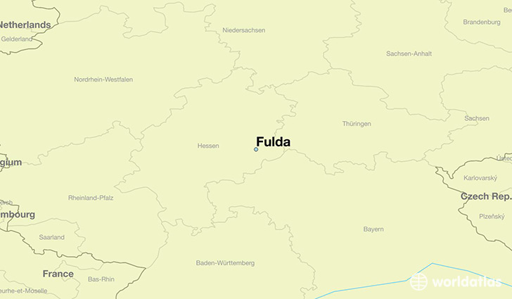 map showing the location of Fulda