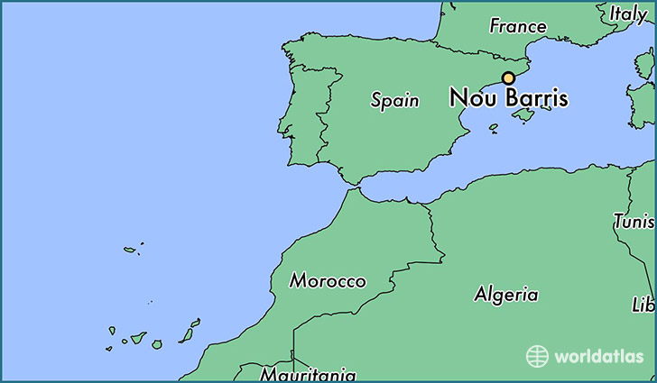 map showing the location of Nou Barris