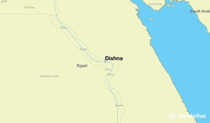 map showing the location of Dishna