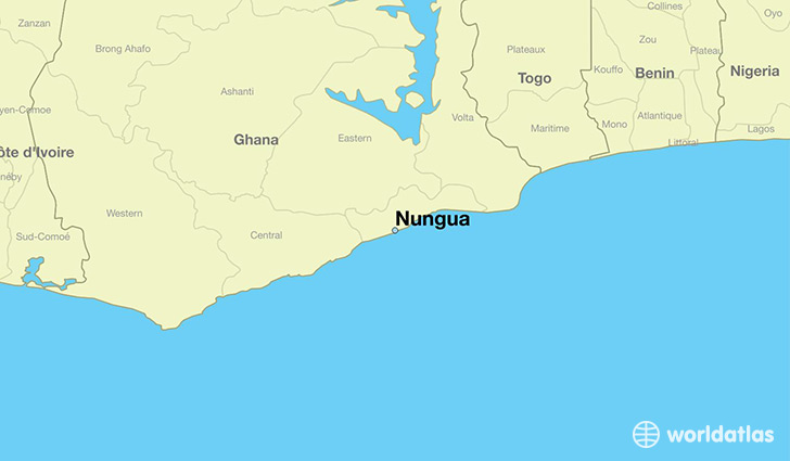 map showing the location of Nungua