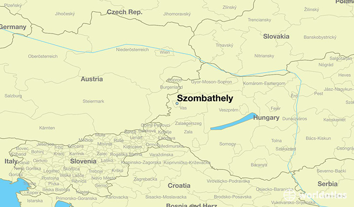 map showing the location of Szombathely