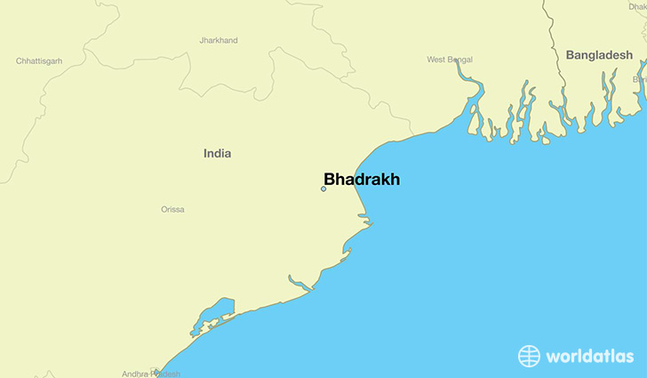 map showing the location of Bhadrakh
